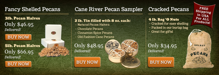 Louisiana Pecan Sales Deals Slider