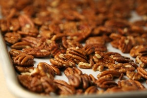 Toasted pecans add flavor and crunch.